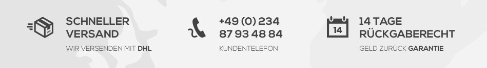 schneller Versand - Kundentelefon - 14 Tage Rückgaberecht